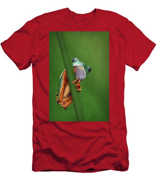 I See You - Tiger Leg Monkey Frog Men's T-Shirt (Athletic Fit)