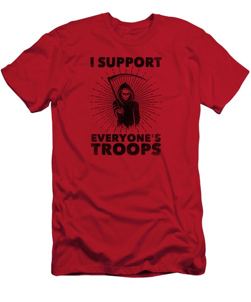 I Support Everyone's Troops Political Statement Grim Reaper  Men's T-Shirt (Athletic Fit)