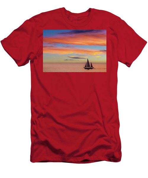 I Will Sail Away, And Take Your Heart With Me Men's T-Shirt (Athletic Fit)