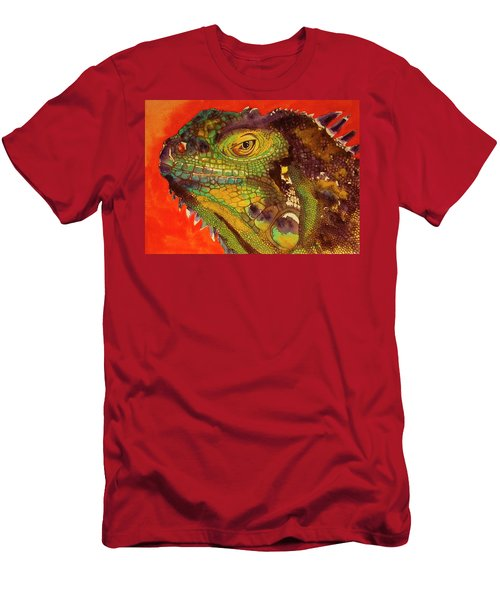 Men's T-Shirt (Slim Fit) featuring the painting Iggy by Cynthia Powell
