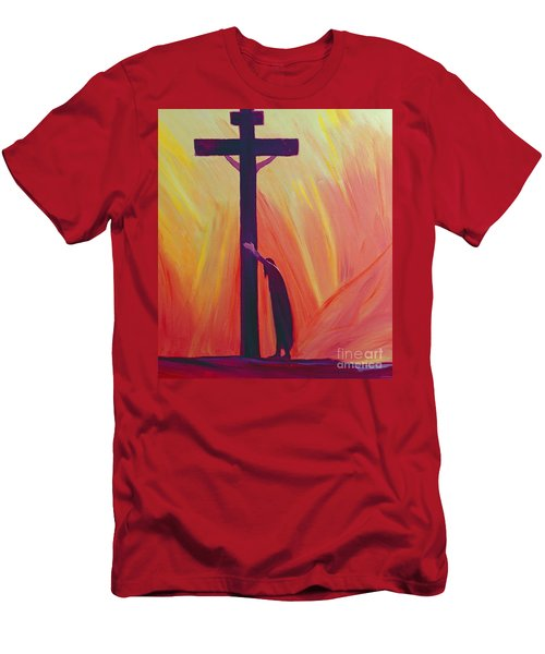 In Our Sufferings We Can Lean On The Cross By Trusting In Christ's Love Men's T-Shirt (Athletic Fit)