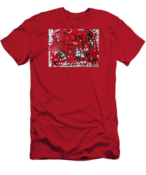 Men's T-Shirt (Slim Fit) featuring the painting In  The Midst Of Passion by Sharyn Winters
