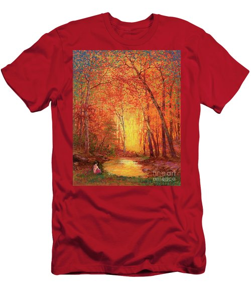 In The Presence Of Light Meditation Men's T-Shirt (Athletic Fit)