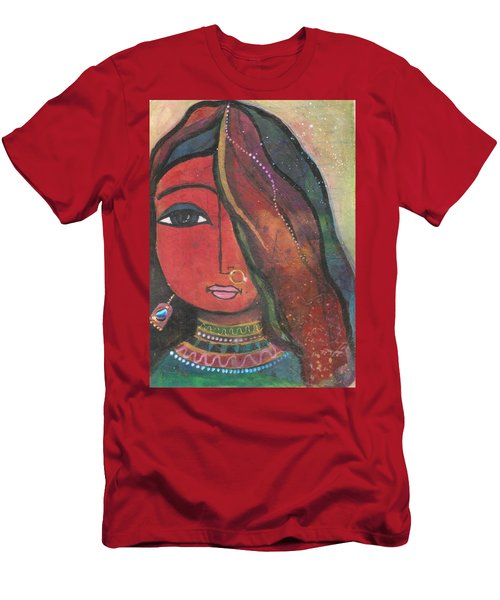 Indian Girl With Nose Ring Men's T-Shirt (Athletic Fit)