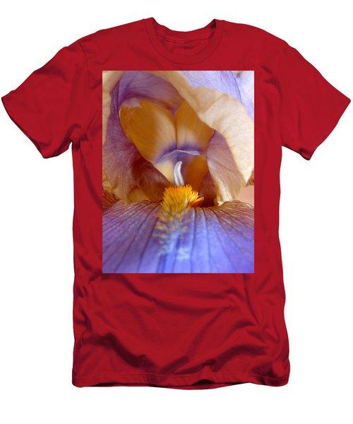 Inner Iris Series, Yellow Purple Men's T-Shirt (Slim Fit) by Jana Russon