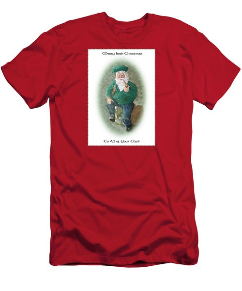 Irish Santa Card Men's T-Shirt (Athletic Fit)
