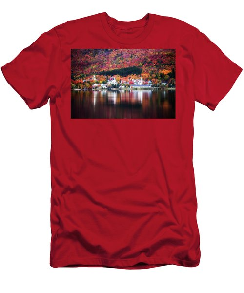 Island Pond Vermont Men's T-Shirt (Slim Fit) by Sherman Perry