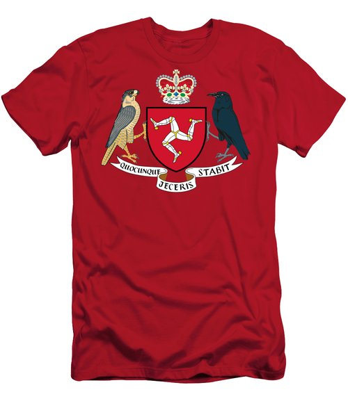 Isle Of Man Coat Of Arms Men's T-Shirt (Athletic Fit)