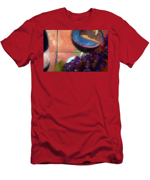 Italian Tile And Fine Wine Men's T-Shirt (Slim Fit) by Lisa Kaiser