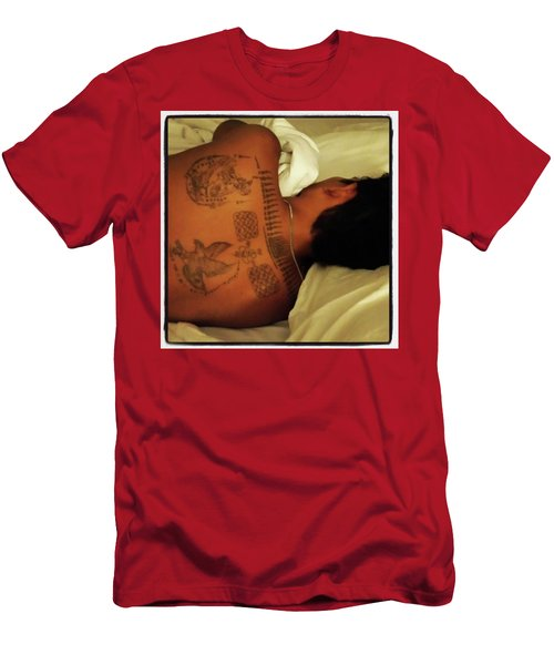 Men's T-Shirt (Athletic Fit) featuring the photograph I've Just Been So Enjoying The Street by Mr Photojimsf