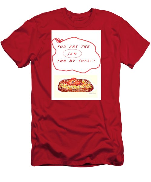 Men's T-Shirt (Slim Fit) featuring the drawing Jam For My Toast by Denise Fulmer