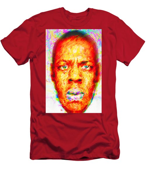 Jay-z Shawn Carter Digitally Painted Men's T-Shirt (Slim Fit) by David Haskett