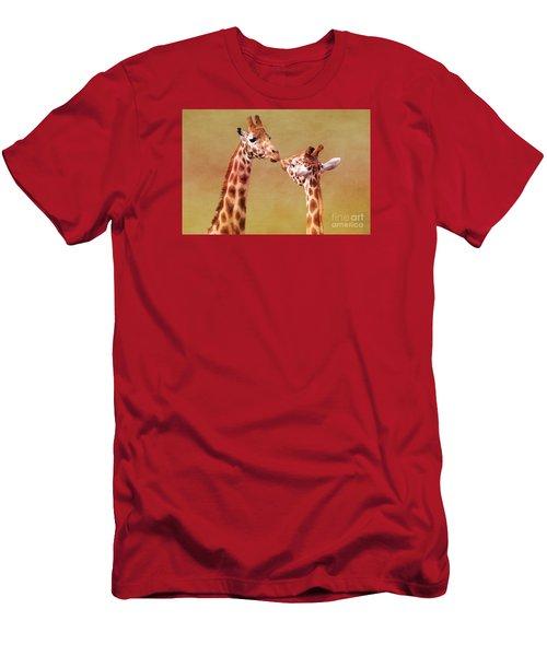 Je T'aime Giraffes Men's T-Shirt (Athletic Fit)