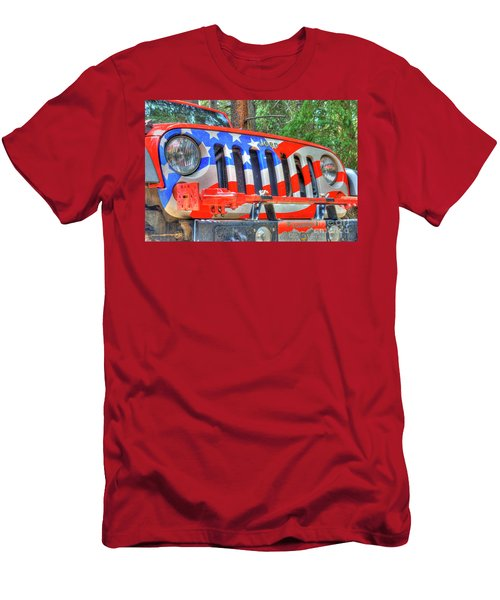 Jeep Usa Men's T-Shirt (Athletic Fit)
