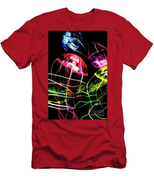 Jelly Fish Trails Men's T-Shirt (Athletic Fit)