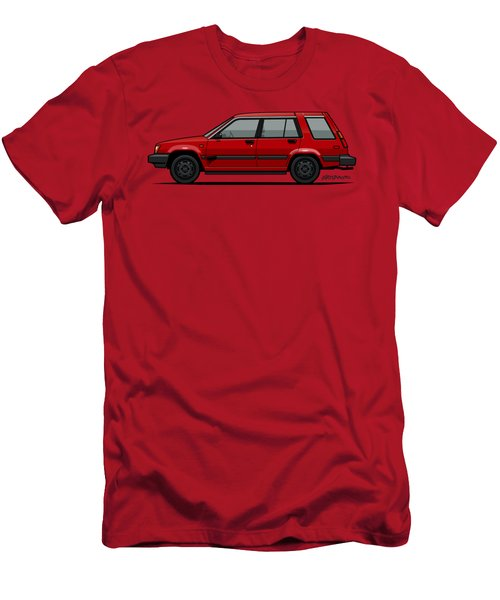 Jesse Pinkman's Crappy Red Toyota Tercel Sr5 4wd Wagon Al25 Men's T-Shirt (Athletic Fit)