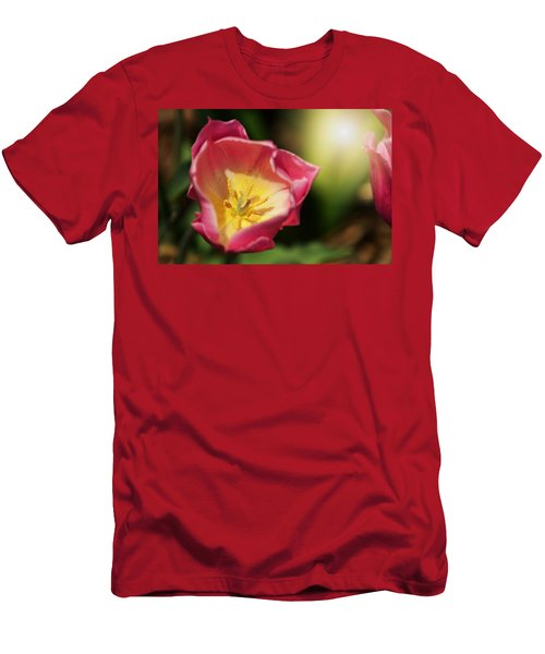 Men's T-Shirt (Slim Fit) featuring the mixed media Jessica by Trish Tritz