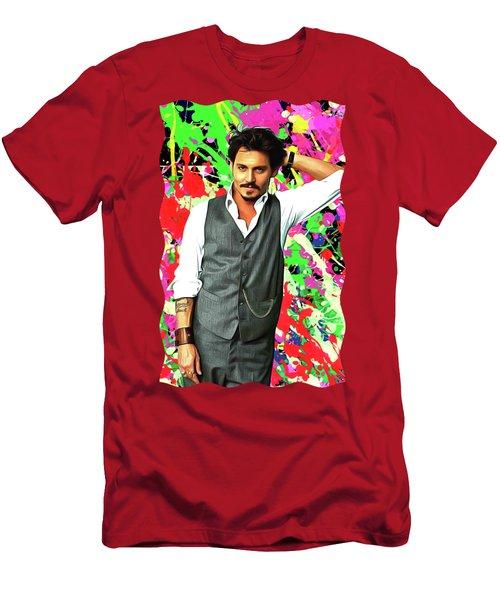 Johnny Depp - Celebrity Art Men's T-Shirt (Athletic Fit)