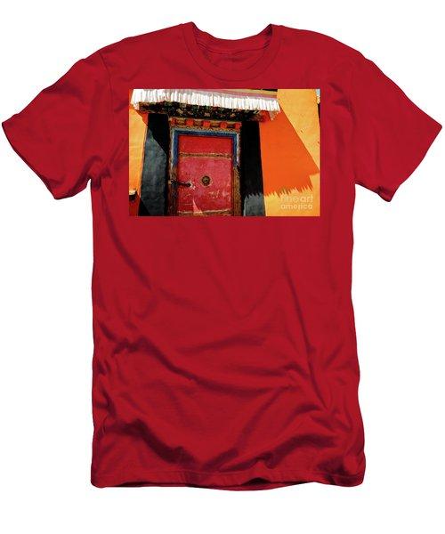 Jokhang Temple Door Lhasa  Tibet Artmif.lv Men's T-Shirt (Athletic Fit)