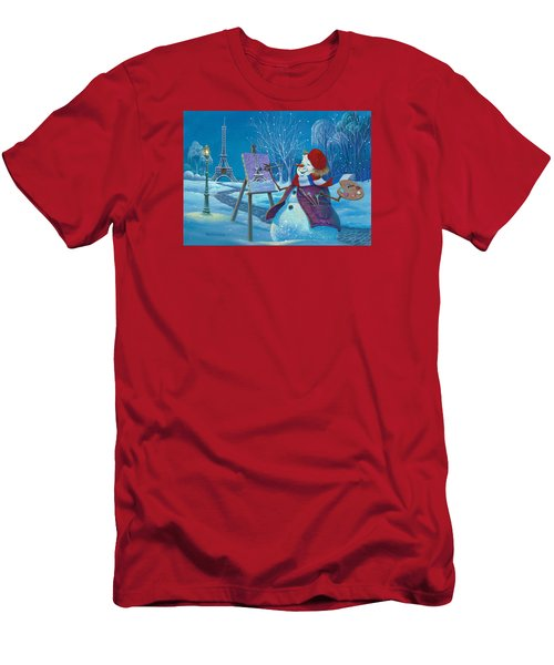 Joyeux Noel Men's T-Shirt (Slim Fit) by Michael Humphries