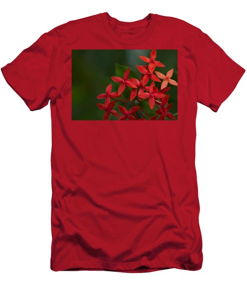 Jungle Geranium Men's T-Shirt (Slim Fit) by Marlo Horne