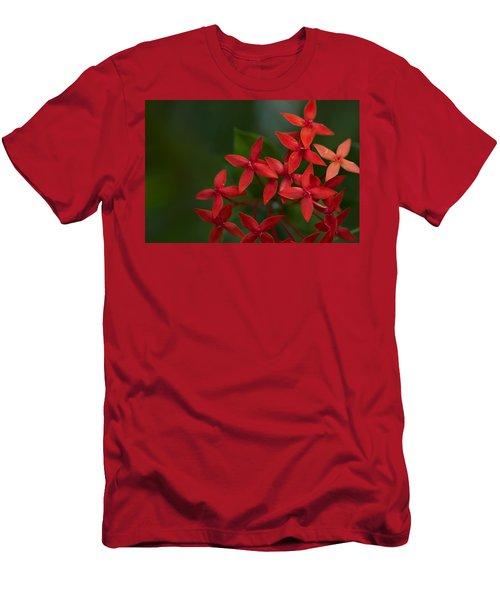 Jungle Geranium Men's T-Shirt (Athletic Fit)