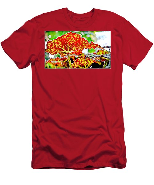 Men's T-Shirt (Slim Fit) featuring the photograph Jungle Leaf by Mindy Newman