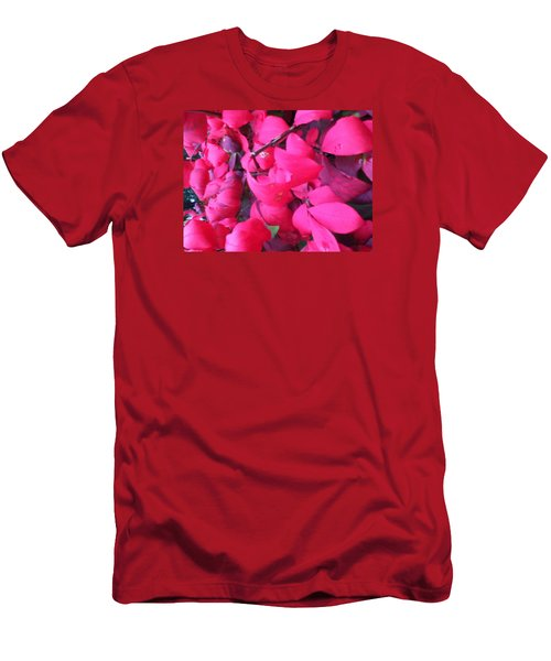 Just Red/pink Men's T-Shirt (Athletic Fit)