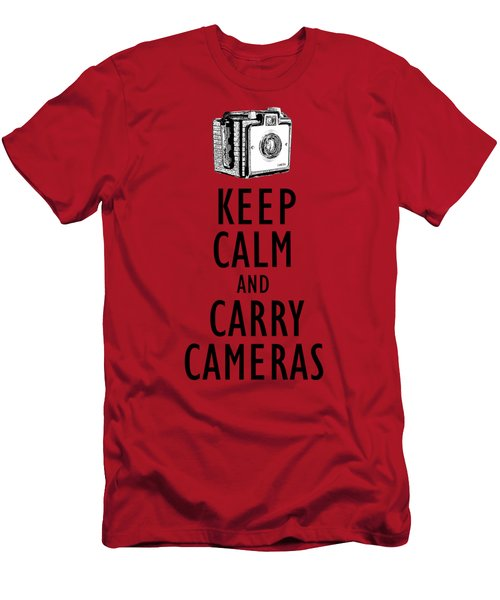 Keep Calm And Carry Cameras Photographer Tee Men's T-Shirt (Athletic Fit)