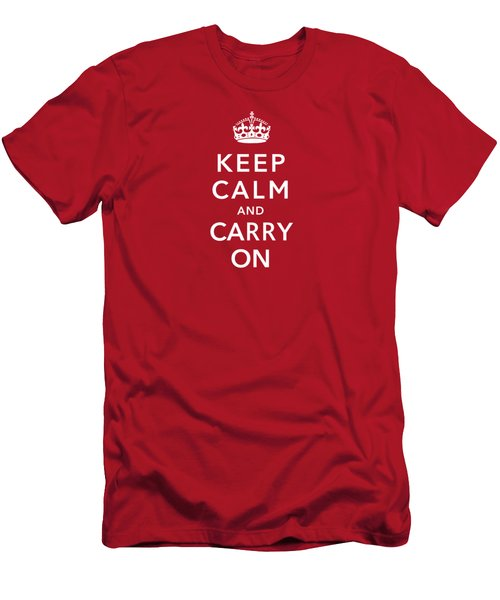 Keep Calm And Carry On Men's T-Shirt (Athletic Fit)