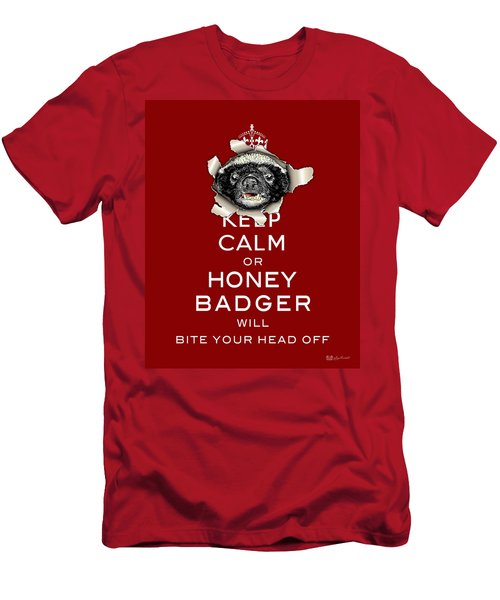 Keep Calm Or Honey Badger...  Men's T-Shirt (Athletic Fit)