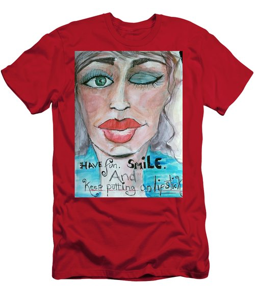 Keep Putting On Lipstick Men's T-Shirt (Athletic Fit)