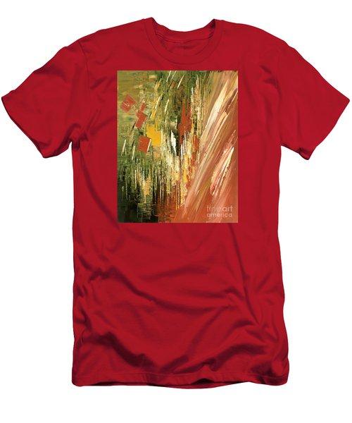 Men's T-Shirt (Slim Fit) featuring the painting Kinetic Creativity by Tatiana Iliina