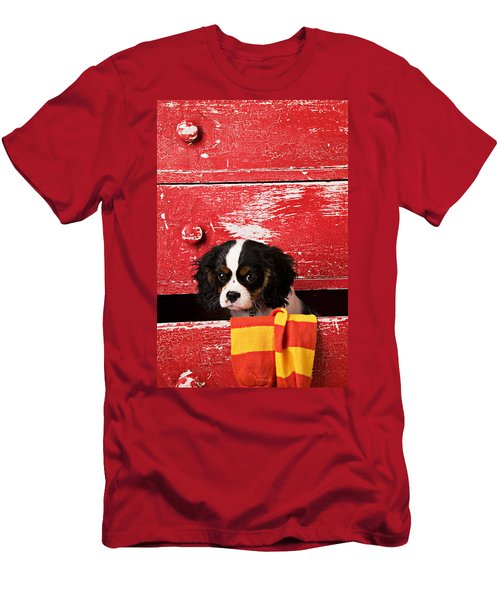 King Charles Cavalier Puppy  Men's T-Shirt (Athletic Fit)