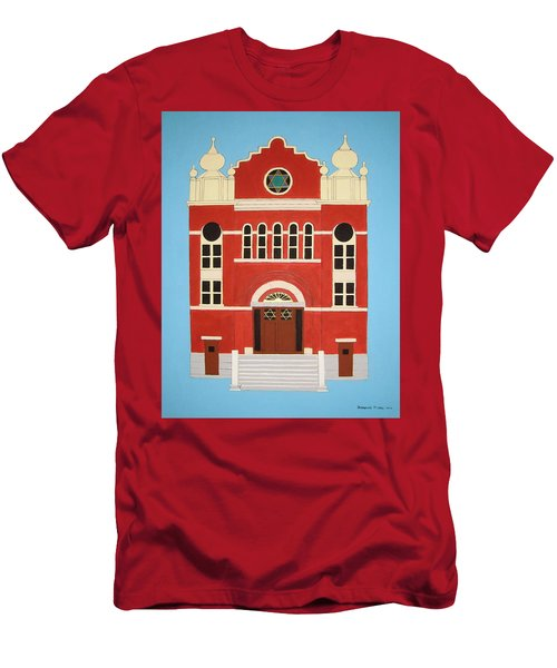 Men's T-Shirt (Slim Fit) featuring the painting King Edward Street Shul by Stephanie Moore