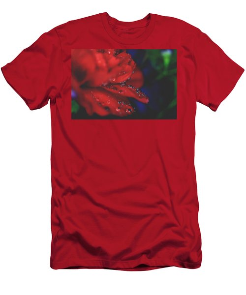 Kisses In The Rain Men's T-Shirt (Athletic Fit)