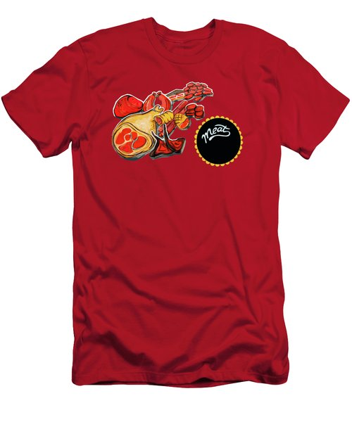 Kitchen Illustration Of Menu Of Meat Products  Men's T-Shirt (Athletic Fit)