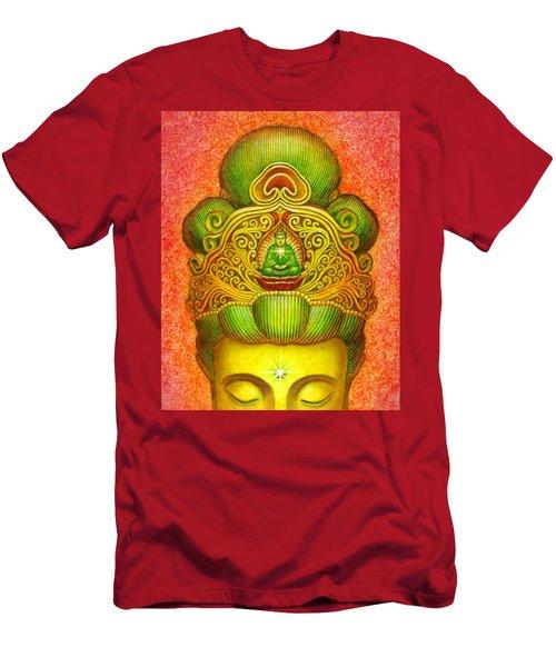 Kuan Yin's Buddha Crown Men's T-Shirt (Athletic Fit)