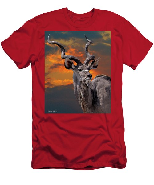 Kudu At Sunset Men's T-Shirt (Athletic Fit)