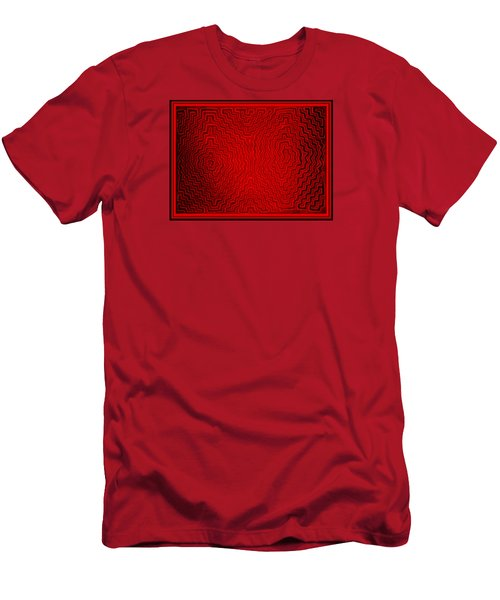 Men's T-Shirt (Athletic Fit) featuring the digital art Kuna Indian Sun Heat Rays by Vagabond Folk Art - Virginia Vivier