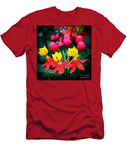 Men's T-Shirt (Slim Fit) featuring the photograph Ladies In Waiting by Vonda Lawson-Rosa