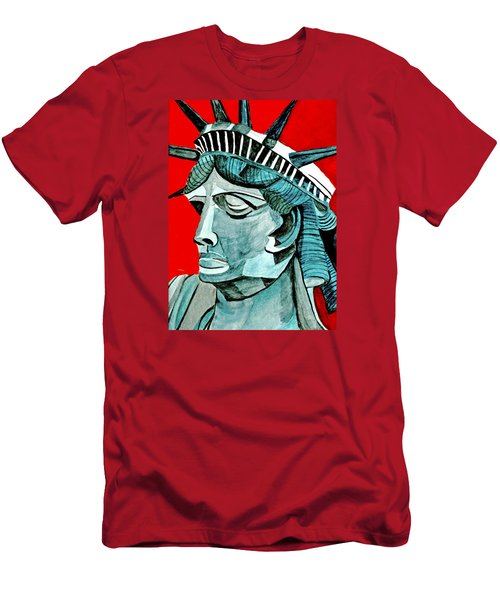 Lady Liberty Men's T-Shirt (Slim Fit) by Anna Porter