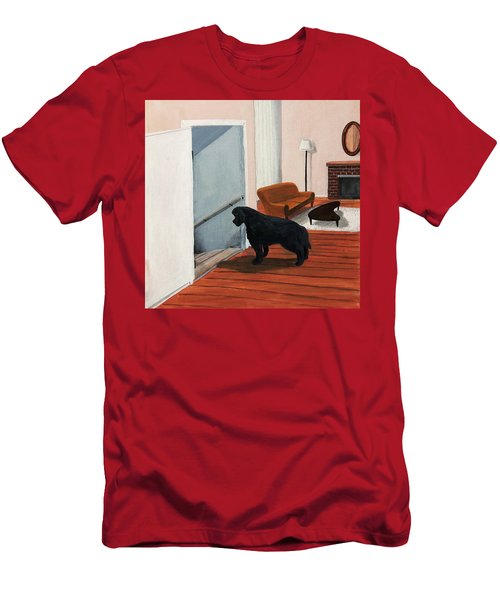 Lady Stares Down The Big Stairs Men's T-Shirt (Athletic Fit)