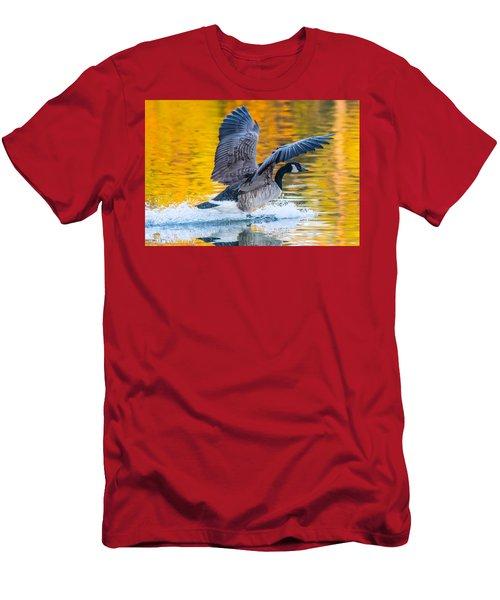 Landing In Fall Colors Men's T-Shirt (Athletic Fit)