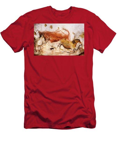 Lascaux Cow And Horse Men's T-Shirt (Athletic Fit)