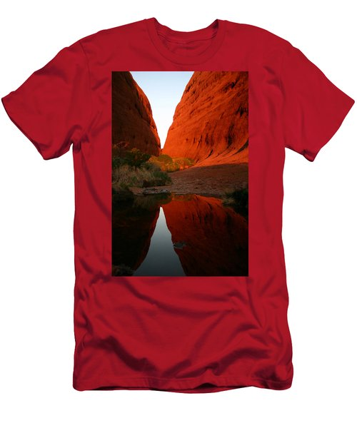 Late Afternoon Light And Reflections At Kata Tjuta In The Northern Territory Men's T-Shirt (Athletic Fit)