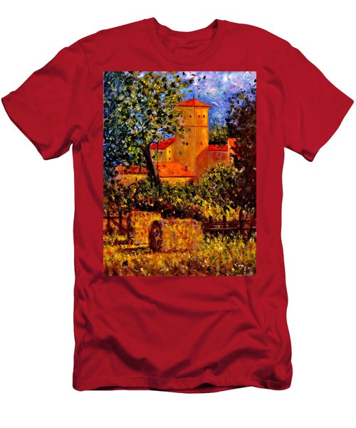 Men's T-Shirt (Slim Fit) featuring the painting A Gust Of Wind.. by Cristina Mihailescu