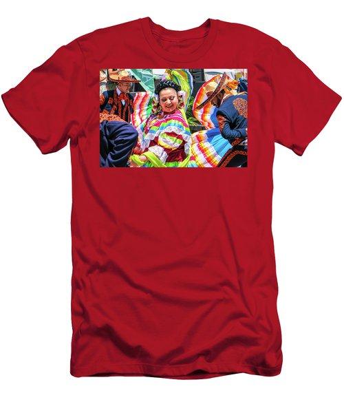Latino Street Festival Dancers Men's T-Shirt (Athletic Fit)