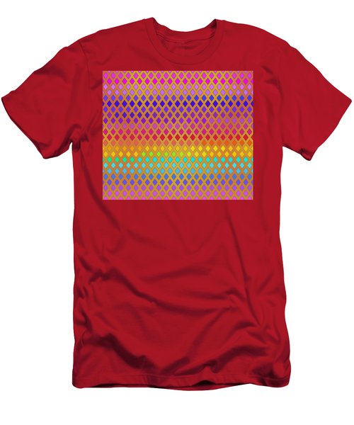 Latticed Rainbow Men's T-Shirt (Athletic Fit)