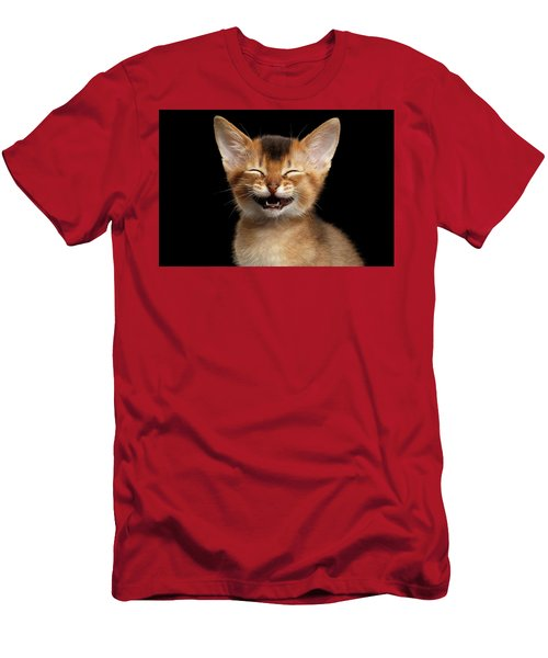 Laughing Kitten  Men's T-Shirt (Athletic Fit)
